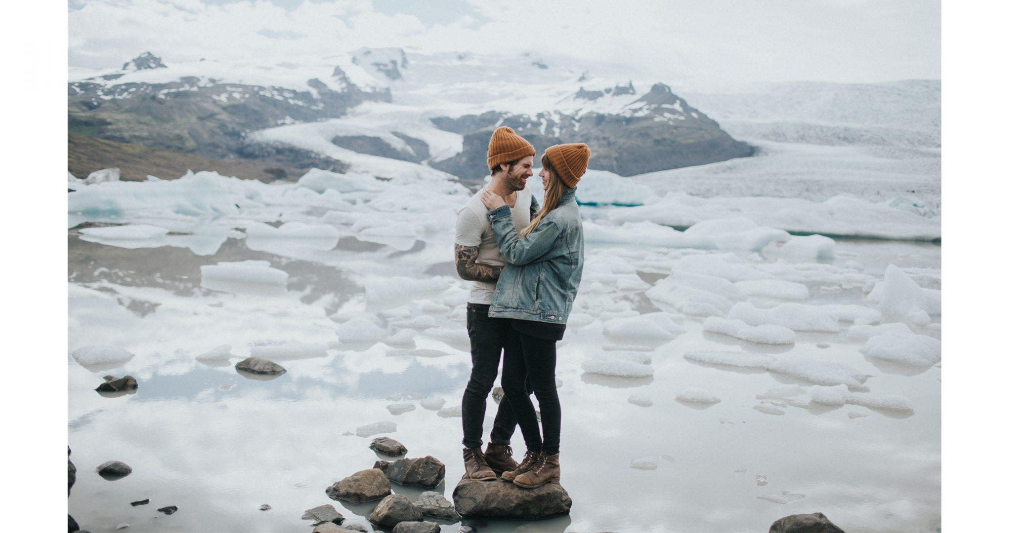 nyc based travel photographer vik iceland glacier lagoon engagement